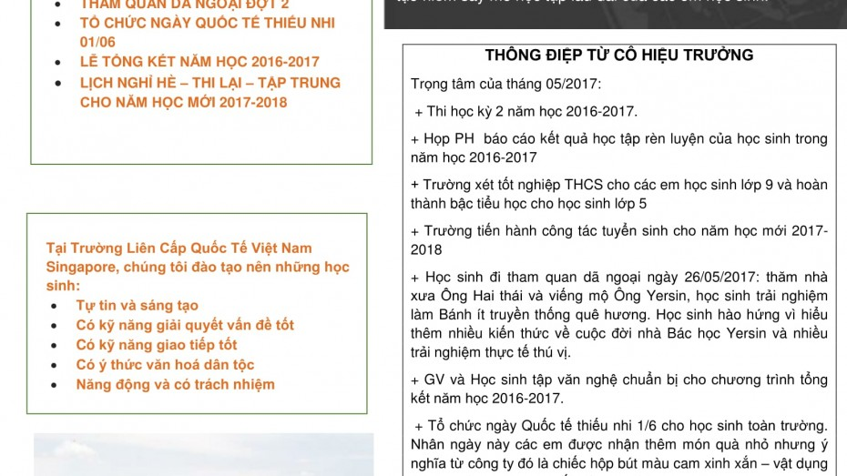 SVIS Nha Trang - Newsletter (VN) May 2017-1