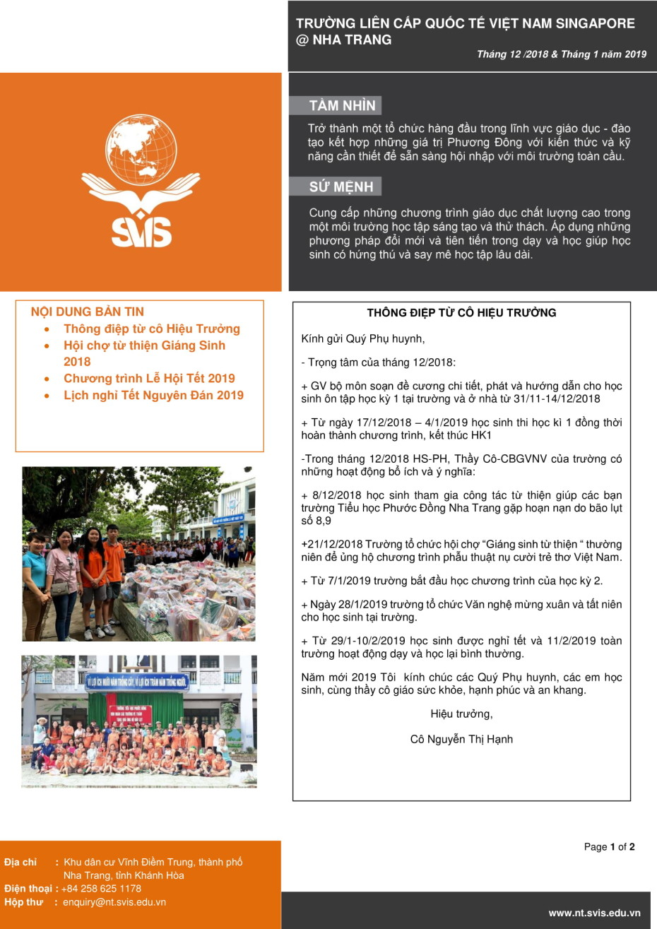 SVIS@NT_Newsletter_Dec 2018 & Jan 2019_VN-1