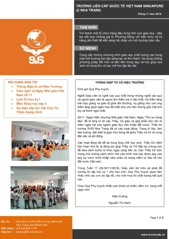 SVIS@NT_Newsletter_Nov 2018_VN-1