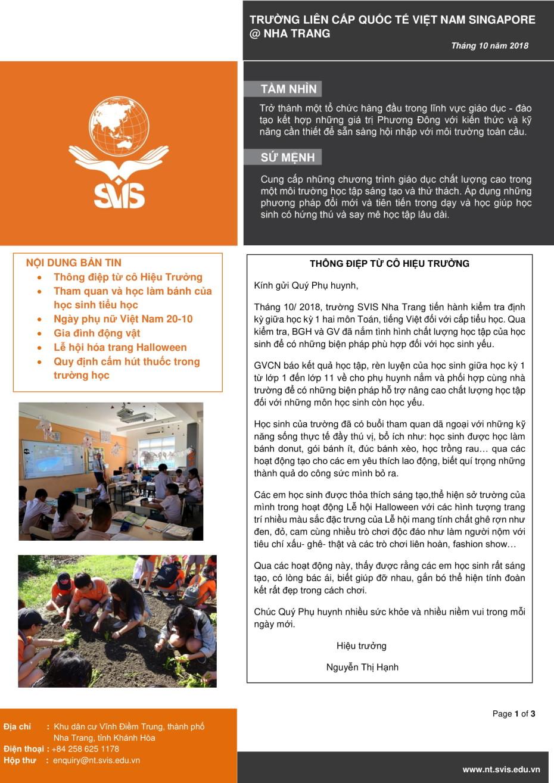 SVIS@NT_Newsletter_Oct 2018_VN-1