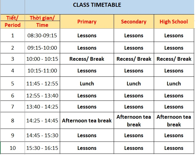 class-timetable-nt